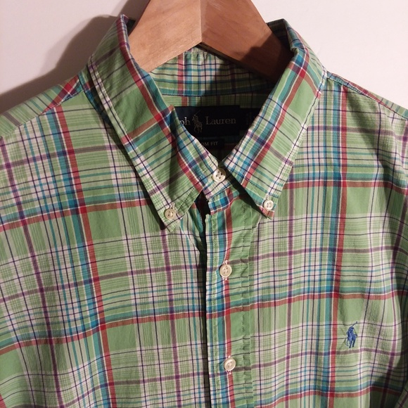 066859de Ralph Lauren Long Sleeve Button Down Plaid XL